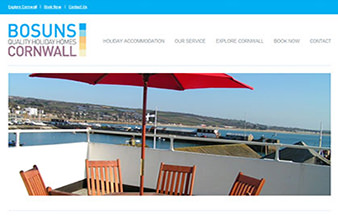 vacation rental website design bosuns