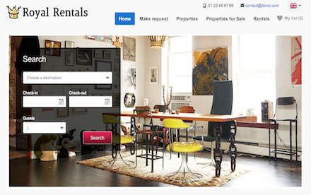 vacation rental template