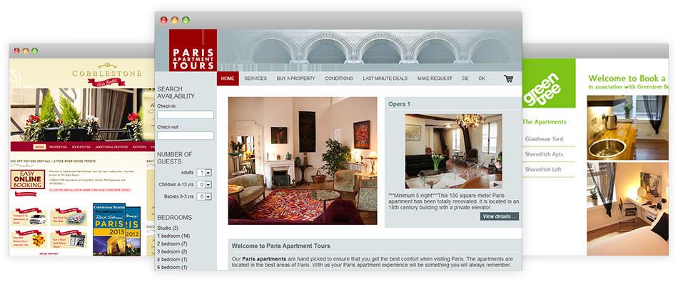 Vacation Rental Website Samples