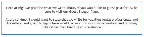 become a guest blogger at Kigo