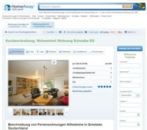 List with HomeAway Fewo-Direkt though Kigo