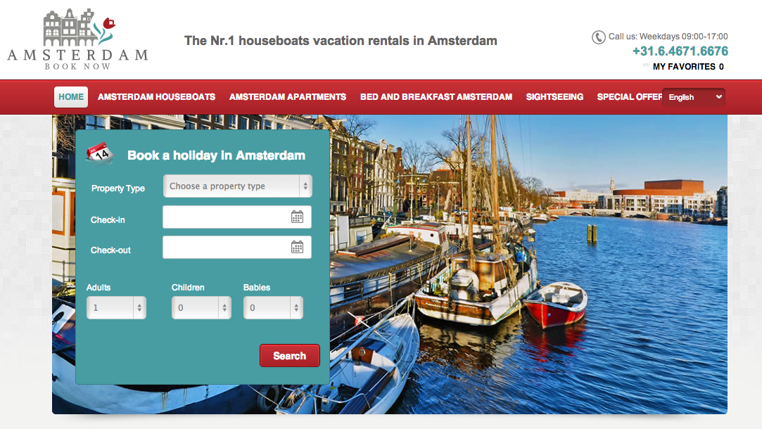 Vacation Rental Sample Amsterdam Book Now