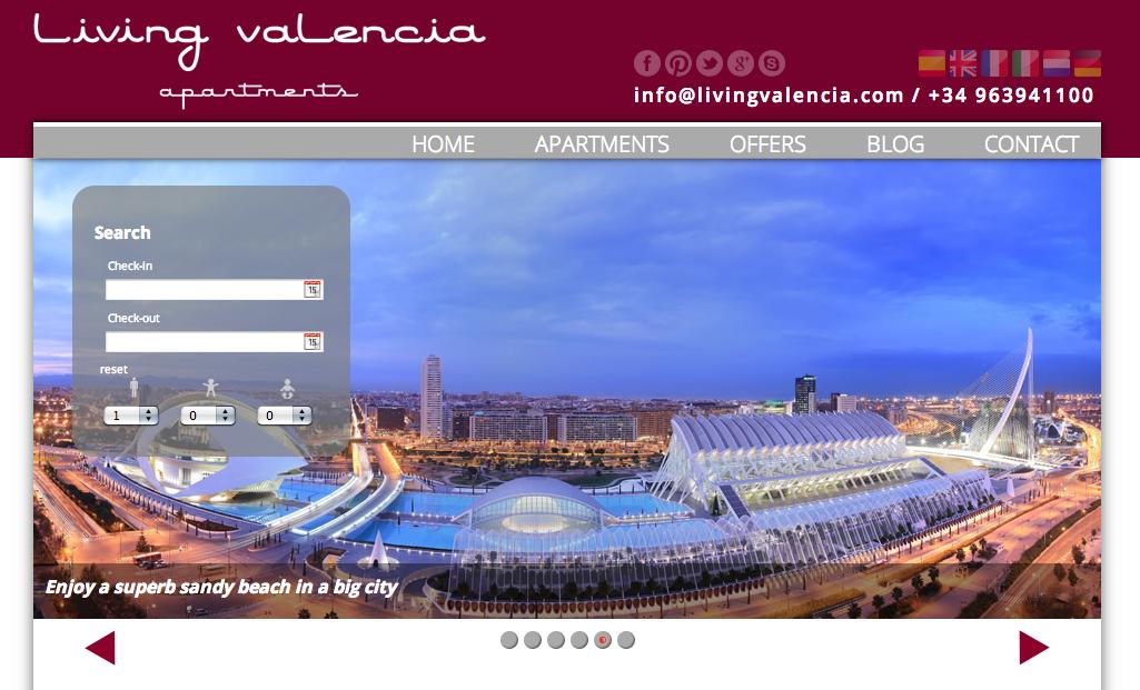 Vacation Rental Sample Living Valencia