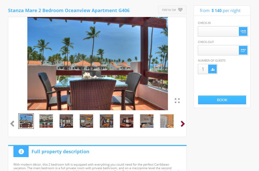 Vacation Rental Sample Volalto