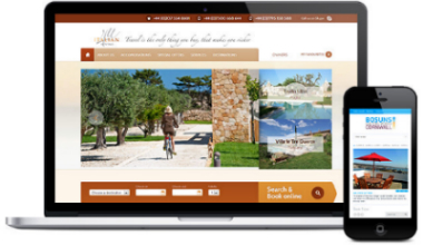 mobile ready vacation rental website