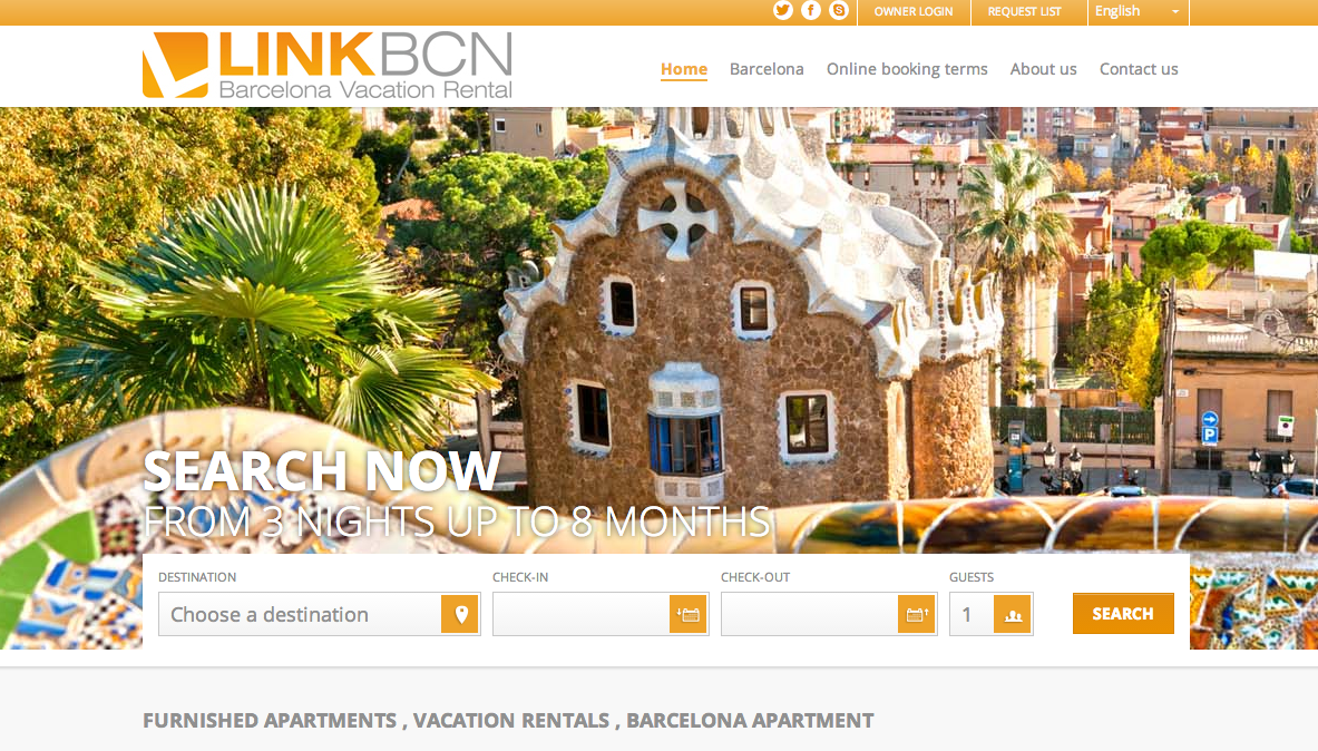 Vacation Rental Sample LinkBCN