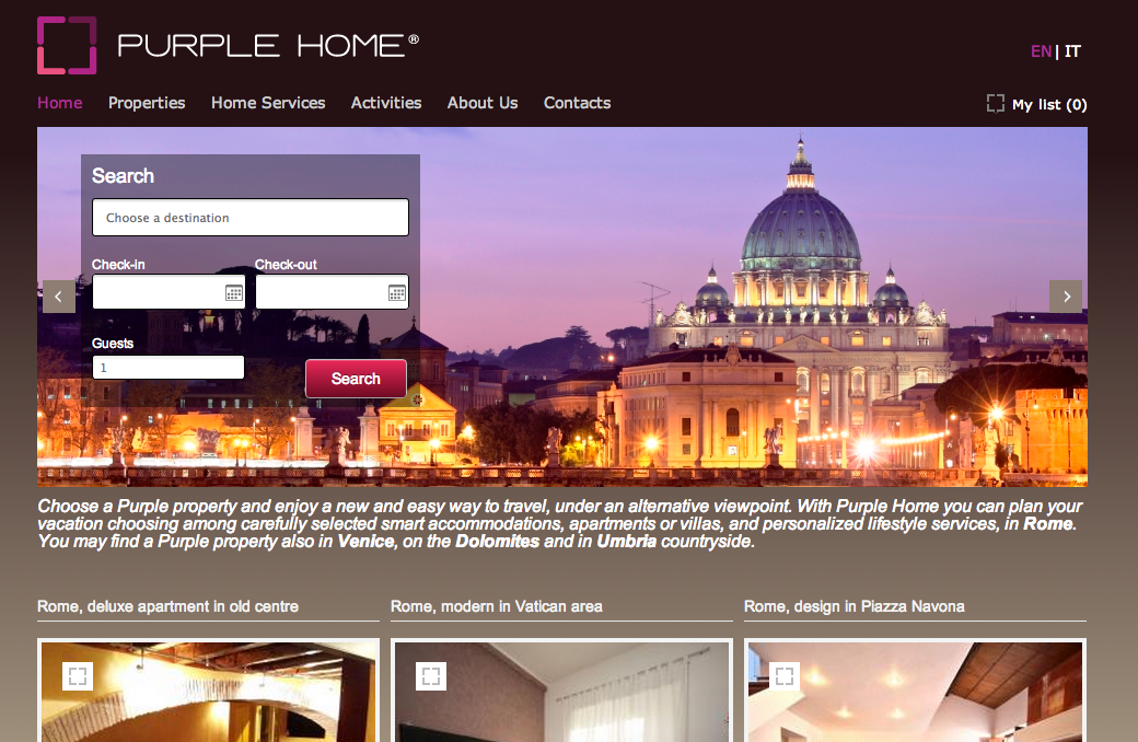 Vacation Rental Sample Purple Home