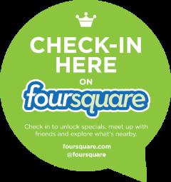 Foursquare check in