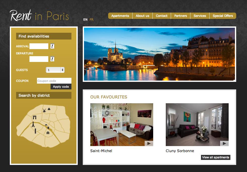 Vacation Rental Sample Rent in Paris