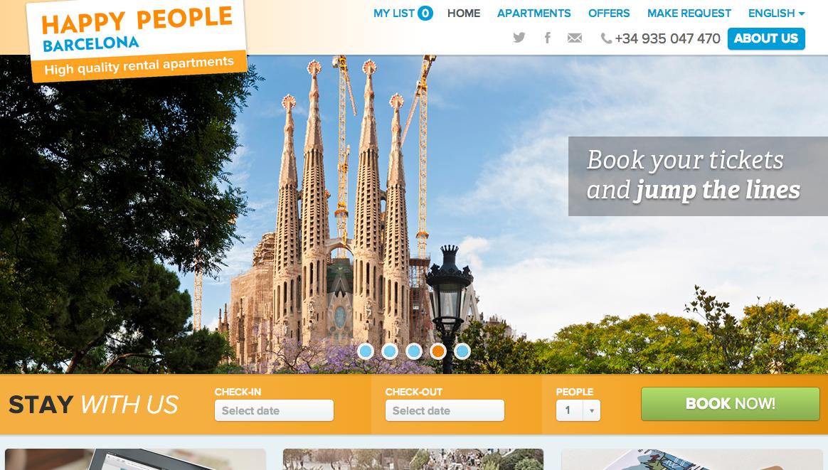 Vacation Rental Sample Happy People Barcelona