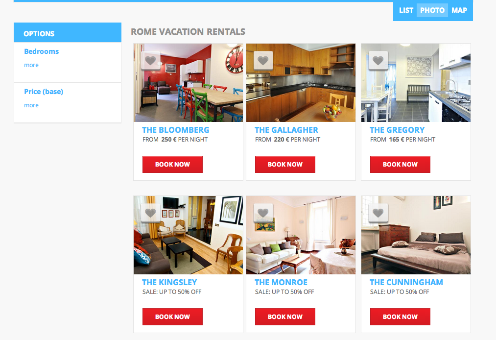 Vacation Rental Sample Rome For The Holidays