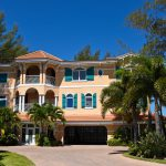 A Large vacation rental home with Beautiful Landscaping